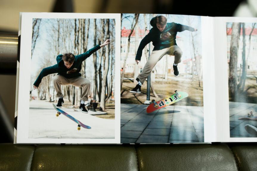 Лайфстайл фотография в школьном альбоме