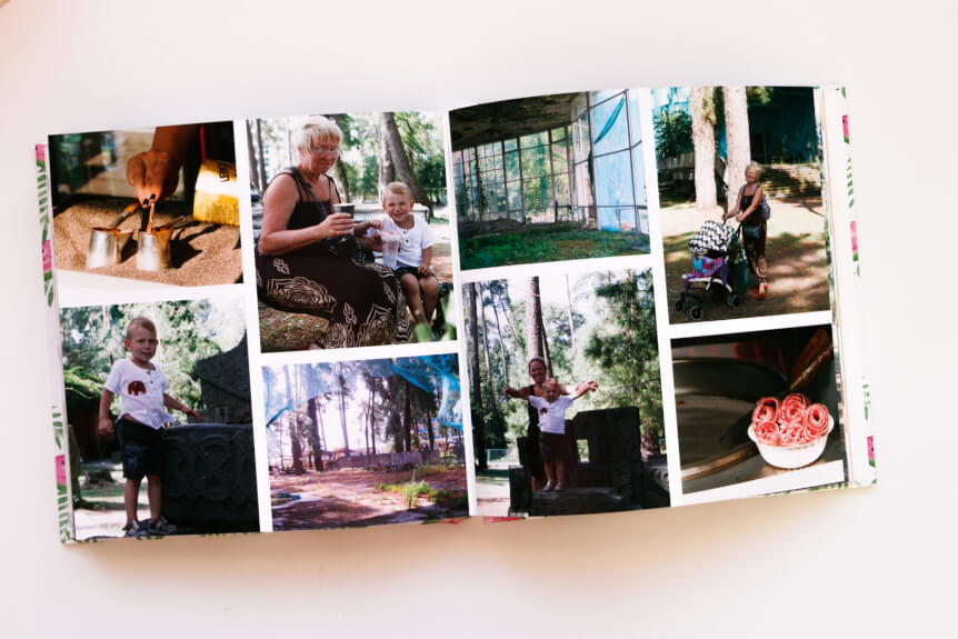 разворот фотокниги отпуск